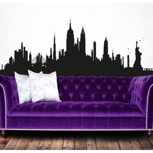 Sticker Myvinilo New York Skyline XL