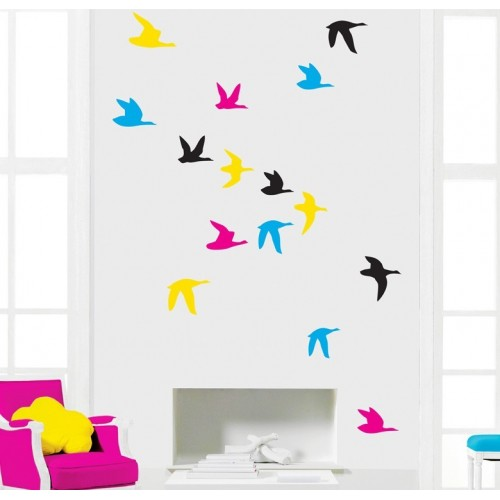 Sticker Myvinilo Morning Birds